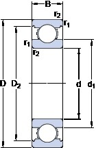 35 mm x 62 mm x 14 mm  SKF W 6007 deep groove ball bearings
