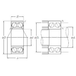 70 mm x 150 mm x 63,5 mm  NTN 5314S angular contact ball bearings