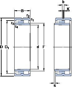 380 mm x 520 mm x 140 mm  SKF NNU 4976 BK/SPW33 cylindrical roller bearings