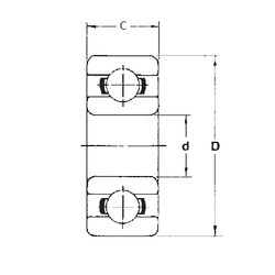 3,175 mm x 9,525 mm x 3,967 mm  FBJ R2 deep groove ball bearings