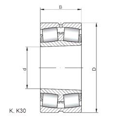 180 mm x 320 mm x 86 mm  Loyal 22236 KCW33 spherical roller bearings