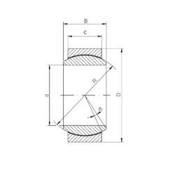 20 mm x 35 mm x 16 mm  ISO GE20UK plain bearings
