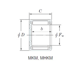 KOYO 8MKM1210 needle roller bearings