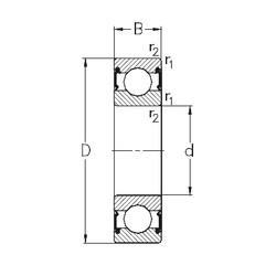 20 mm x 42 mm x 12 mm  NKE 6004-RS2 deep groove ball bearings