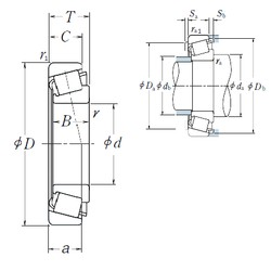 35 mm x 62 mm x 18 mm  NSK HR32007XJ tapered roller bearings