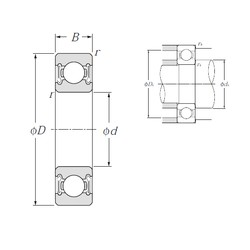 65 mm x 100 mm x 18 mm  NTN 6013LLB deep groove ball bearings