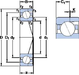35 mm x 62 mm x 14 mm  SKF 7007 ACD/HCP4AH angular contact ball bearings