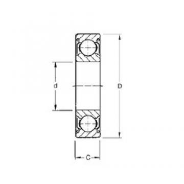 20 mm x 42 mm x 12 mm  CYSD 6004-ZZ deep groove ball bearings
