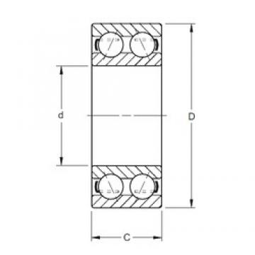 70 mm x 150 mm x 63,5 mm  Timken 5314W angular contact ball bearings