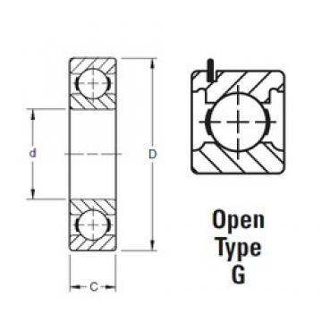 20 mm x 42 mm x 12 mm  Timken 9104KG deep groove ball bearings