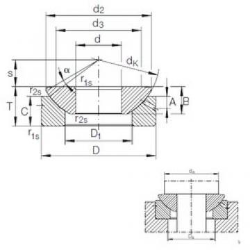 180 mm x 320 mm x 70 mm  INA GE 180 AX plain bearings
