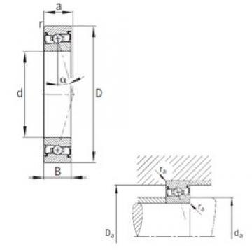 65 mm x 100 mm x 18 mm  FAG HCS7013-C-T-P4S angular contact ball bearings