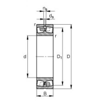 120 mm x 200 mm x 62 mm  FAG 23124-E1A-M spherical roller bearings