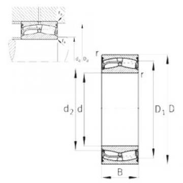 150 mm x 225 mm x 75 mm  FAG 24030-E1-2VSR-H40 spherical roller bearings