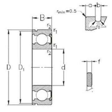 20 mm x 42 mm x 12 mm  NKE 6004-Z-NR deep groove ball bearings