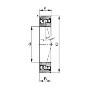 65 mm x 100 mm x 18 mm  FAG HSS7013-C-T-P4S angular contact ball bearings