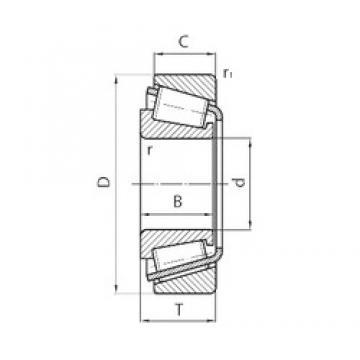 PFI 32007X tapered roller bearings