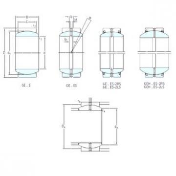 20 mm x 35 mm x 16 mm  SKF GE20ES-2RS plain bearings