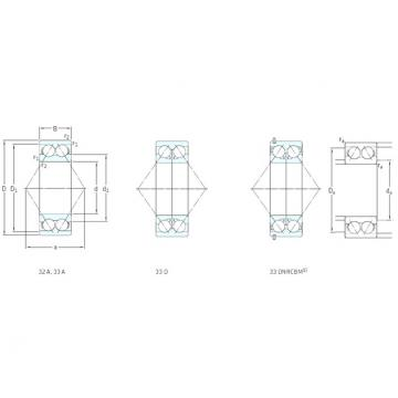 17 mm x 47 mm x 22,2 mm  SKF 3303ATN9 angular contact ball bearings