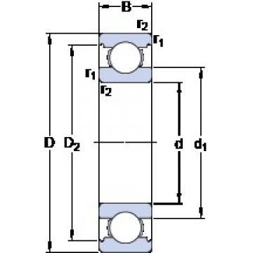 65 mm x 120 mm x 23 mm  SKF 6213 deep groove ball bearings