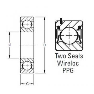 65 mm x 100 mm x 18 mm  Timken 9113PPG deep groove ball bearings