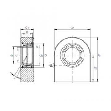 20 mm x 35 mm x 16 mm  INA GF 20 DO plain bearings