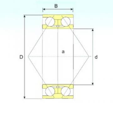 17 mm x 47 mm x 22,2 mm  ISB 3303 ATN9 angular contact ball bearings