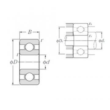 3,175 mm x 9,525 mm x 3,967 mm  NTN R2 deep groove ball bearings