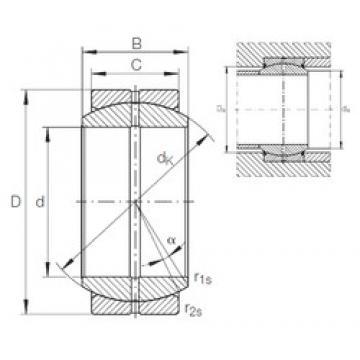 20 mm x 35 mm x 16 mm  INA GE 20 DO plain bearings