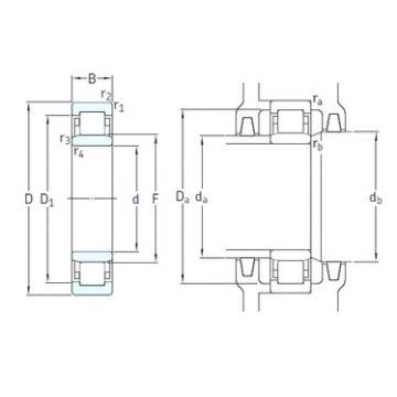 65 mm x 100 mm x 18 mm  SKF NU1013ECP/HC5C3 cylindrical roller bearings