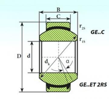 20 mm x 35 mm x 16 mm  ISB GE 20 ET 2RS plain bearings