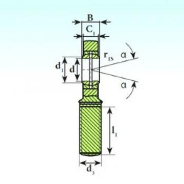 20 mm x 35 mm x 16 mm  ISB SA 20 ES 2RS plain bearings