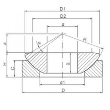 180 mm x 320 mm x 70 mm  ISO GE180AW plain bearings