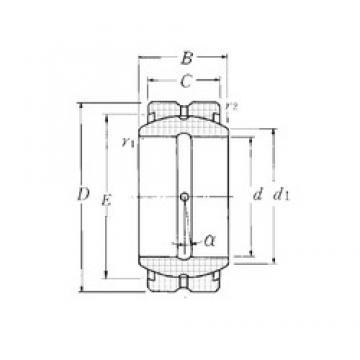 20 mm x 35 mm x 16 mm  NTN SA1-20B plain bearings