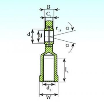 20 mm x 35 mm x 16 mm  ISB SI 20 ES plain bearings