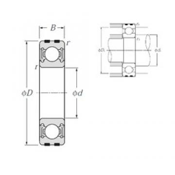 20 mm x 42 mm x 12 mm  NTN EC-6004LLU deep groove ball bearings