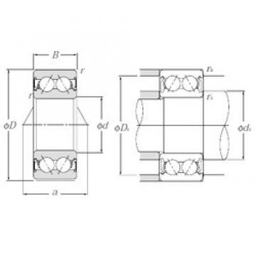 17 mm x 47 mm x 22,2 mm  NTN 5303SCLLM angular contact ball bearings