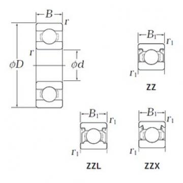 3,175 mm x 9,525 mm x 3,967 mm  KOYO EE0 ZZ deep groove ball bearings
