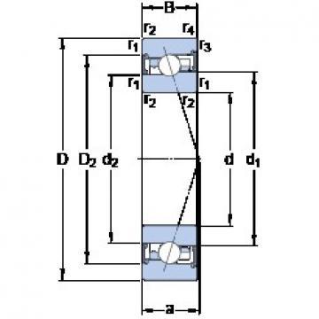 35 mm x 62 mm x 14 mm  SKF S7007 FW/HC angular contact ball bearings