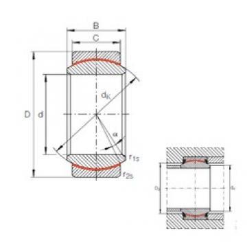 20 mm x 35 mm x 16 mm  INA GE 20 UK plain bearings
