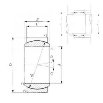 20 mm x 35 mm x 16 mm  IKO GE 20EC plain bearings