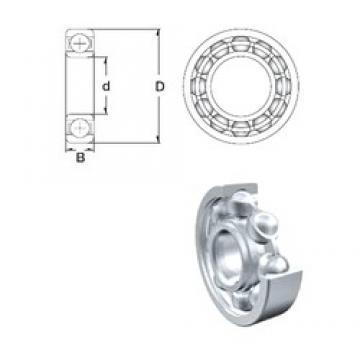20 mm x 42 mm x 12 mm  ZEN 6004 deep groove ball bearings
