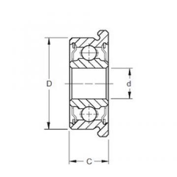 3,175 mm x 9,525 mm x 3,967 mm  ZEN SFR2-2RS deep groove ball bearings