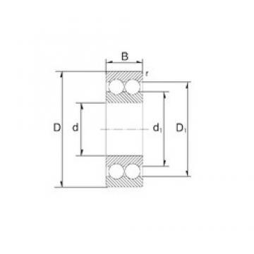 17 mm x 47 mm x 22,2 mm  ZEN S5303 angular contact ball bearings