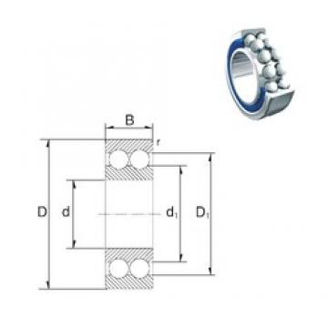 17 mm x 47 mm x 22,2 mm  ZEN S5303-2RS angular contact ball bearings