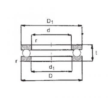 FBJ 51207 thrust ball bearings