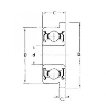 3,175 mm x 9,525 mm x 3,967 mm  FBJ FR2ZZ deep groove ball bearings
