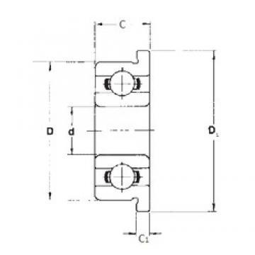 3,175 mm x 9,525 mm x 3,967 mm  FBJ FR2 deep groove ball bearings