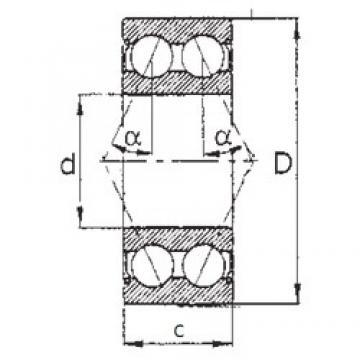 17 mm x 47 mm x 22,2 mm  FBJ 5303ZZ angular contact ball bearings