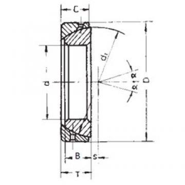 35 mm x 62 mm x 18 mm  FBJ GAC35S plain bearings